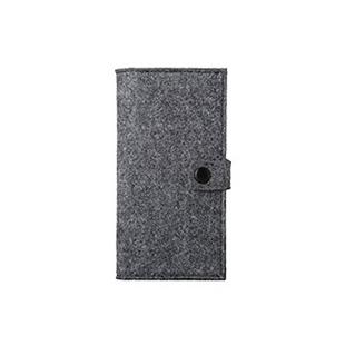 羊毛毡长钱包M-K大 日式良品简约基本生活无印北欧风格