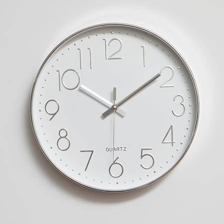 佰奇12英寸挂钟客厅现代简约静音时尚创意卧室石英钟表圆形时钟