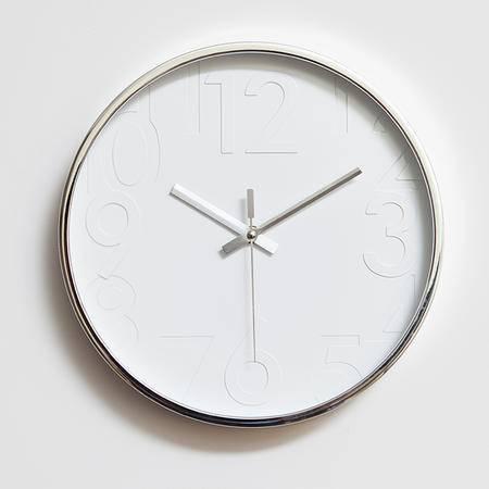 佰奇12英寸时尚挂钟卧室客厅办公静音时钟挂表简约创意石英钟表