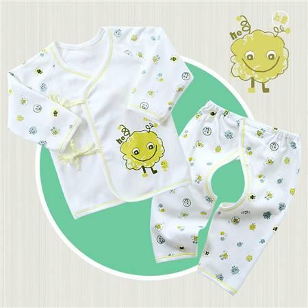 皇家衞仕 机器人0-3个月纯棉新生儿衣服春夏天初生婴儿和尚服装宝宝空调服