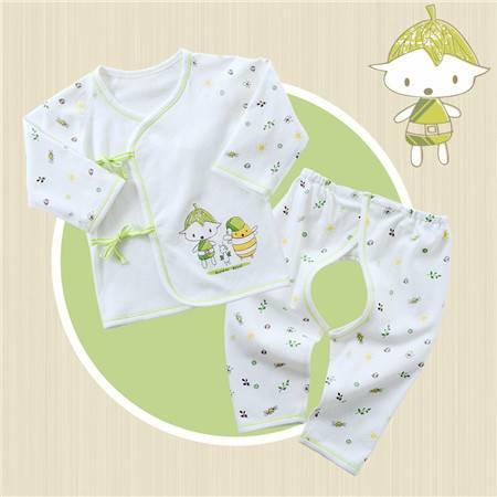 皇家衞仕 小蜜蜂0-3个月纯棉新生儿衣服春夏天初生婴儿和尚服装宝宝空调服