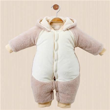 皇家衞仕 0-3岁夹棉外出服婴儿连体衣加厚冬保暖宝宝棉衣哈衣爬行服秋冬装