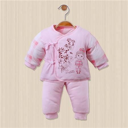 皇家衞仕 冬款新品婴儿衣服儿童棉衣套装加厚男女宝宝外出偏开保暖棉服