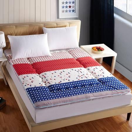 贝得赫 印花磨毛榻榻米床垫 加大双人床垫褥子180*220CM
