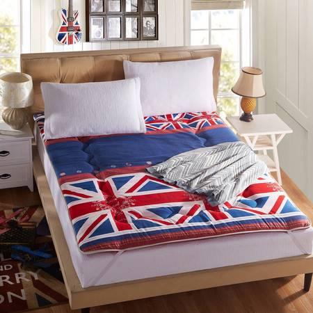 贝得赫 磨毛印花榻榻米床垫 单人可折叠床褥子120*200CM