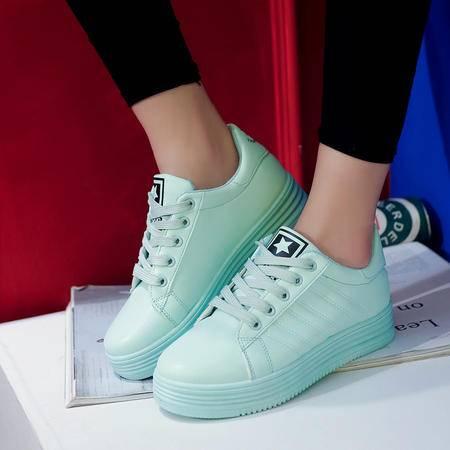 木槿 韩版春夏季小白鞋女厚底板鞋运动鞋休闲鞋学生女鞋跑步鞋透气鞋子