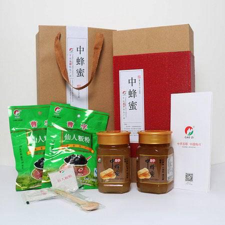 曹字 梅州平远客家特产蓸字礼盒装自产野生中蜂纯蜜土蜜 仙人粄粉1240g