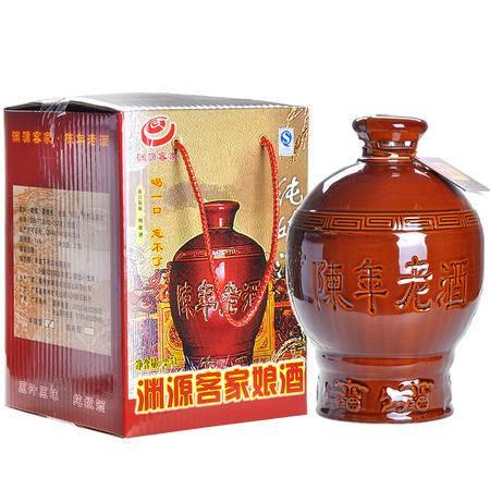 纯客 正宗梅州平远客家纯娘酒 渊源客家 黄酒17度2.5L 半甜型礼盒装