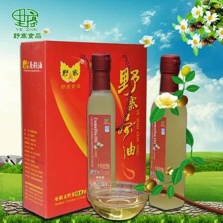 皖五福 野生山茶油植物油食用油月子婴儿护肤茶籽油农家自榨茶树油580ml