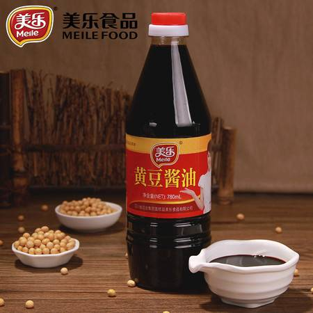 美乐黄豆酱油780ml正品非转基因纯黄豆传统酿造凉拌红烧炒菜煲仔