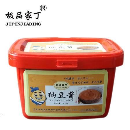 极品家丁 纳豆酱450g东北农家大酱味道传统工艺含有纳豆激酶