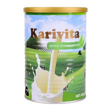 卡瑞特兹 新西兰进口脱脂成人奶粉 高钙学生女士青少年450g牛奶粉