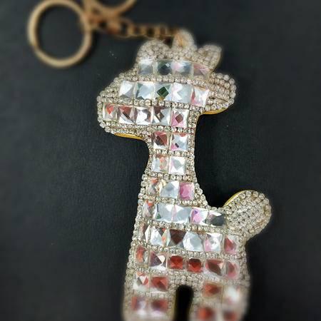 【爱心义卖品】 手工DIY制作长颈鹿汽车钥匙扣