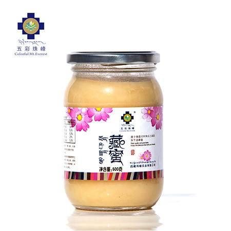 五彩珠峰 西藏蜂蜜 出天然 圆瓶500克