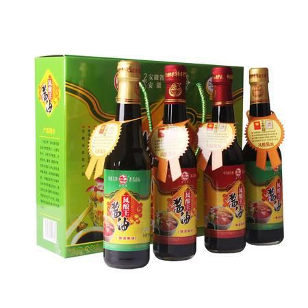 望江亭 安徽望江特产一级酱油风酿王礼盒套装340ml*4瓶