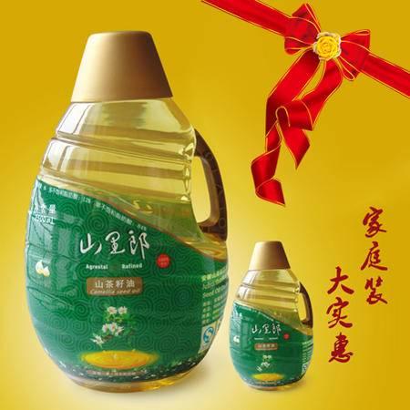 山里郎野山茶油双重有机认证茶籽油物理压榨大容量2500ML家庭装