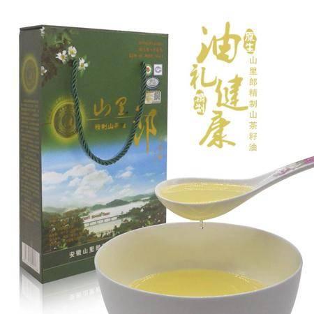 山里郎 野生山茶油食用油 高档礼品装压榨一级茶油茶籽油 375MLX2