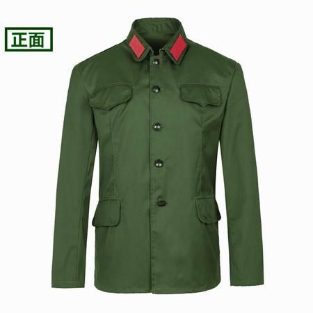老式65式怀旧军干服全面解放老兵红卫兵表演服聚会绿军装套装