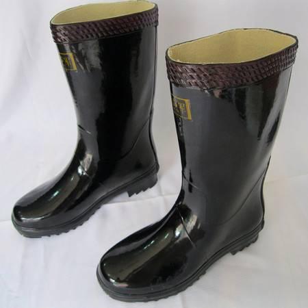 际华3539雄军中筒雨靴黑色防水鞋绅士雨鞋男士劳保工地水胶鞋正品