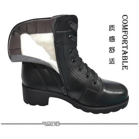 3513巡洋舰中筒女靴 冬季保暖皮靴 羊毛靴子 棉靴 特种兵军靴