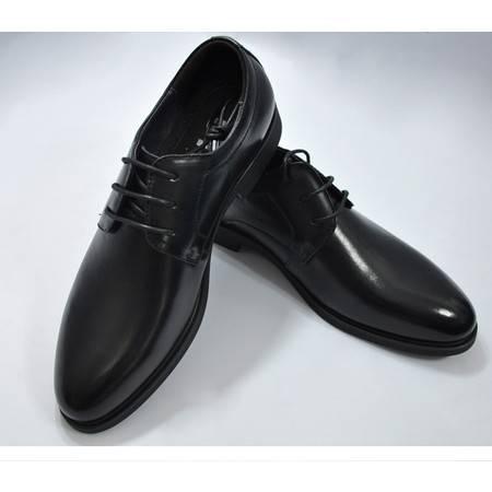5116桥头堡商务皮鞋男英伦青年鞋子男潮鞋正装皮鞋低帮大码鞋