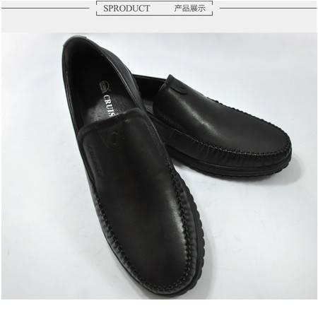 3515巡洋舰春季皮鞋 男式牛皮鞋英伦低帮单鞋休闲男鞋商务打褶