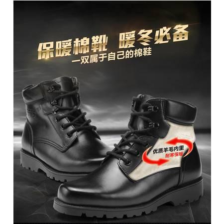 3515强人正品军靴 男靴 男特种 男鞋 兵冬季羊毛短靴皮毛一体加绒棉靴保暖皮靴