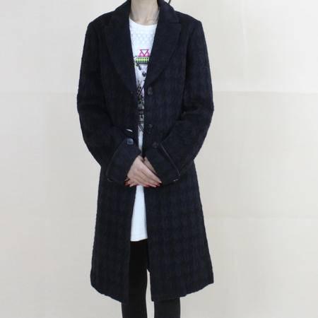 2016A6韩国新款羊毛双面呢女士毛呢外套修身气质长款呢子大衣【新款】