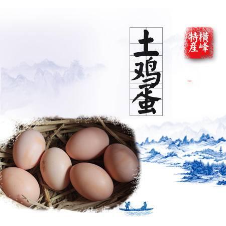 横峰特产 灵西农家土鸡蛋15个29.9元