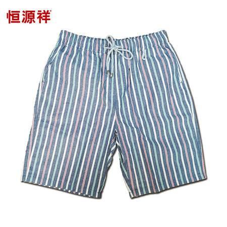 恒源祥男士休闲宽松纯棉沙滩短裤 ECD0691