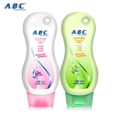 ABC卫生护理液 女性呵护私处洗液 KMS草本护理配方200ml*2正品