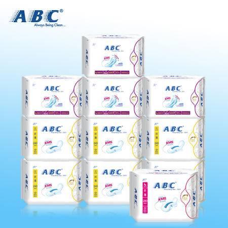 ABC卫生巾日用夜用组合纤薄棉柔亲肤超薄透气超吸防侧漏正品包邮