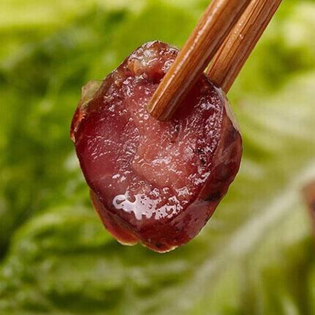 贵州铜仁土特产香腊肠 自制农家小吃 柏枝柴火烟熏香肠500g 包邮