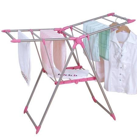 亿佰佳翼型免安装折叠晾衣架 室内外飘窗凉衣架 宝宝尿布架103P