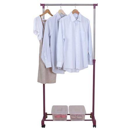 亿佰佳 单杆晾衣架 室内卧室移动挂衣架 加厚不锈钢晒衣架YBJ-503L