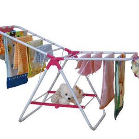 亿佰佳 晾衣架落地折叠翼型晒衣架飘窗款宝宝尿布架104F