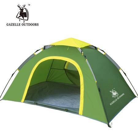 徽羚羊双人单层自动拉绳帐篷 双人野营装备 野外露营速开帐篷套装6927567401320