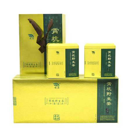 【皖南300村馆】皖海池州200g霄坑野生茶 茶叶富硒 绿茶 高山野茶2016年新茶礼盒