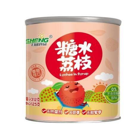 日盛食品/RISHENG  糖水荔枝罐头