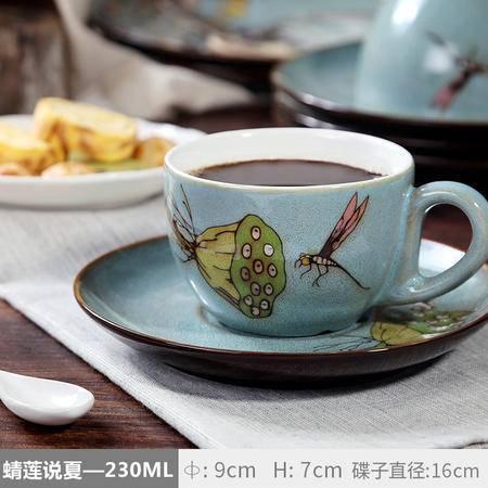 醴陵手绘陶瓷个性创意卡布基诺拉花杯欧式复古