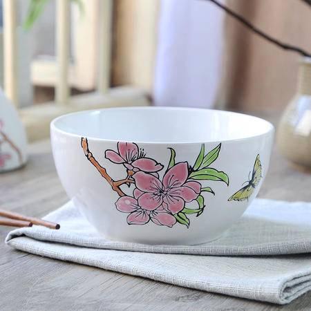 醴陵人工 手绘陶瓷碗 个性汤碗创意沙拉面碗 特色早餐粥碗米饭菜