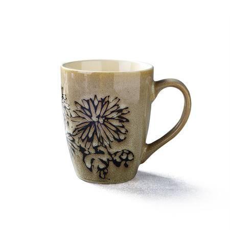 醴陵中国风艺术 手绘陶瓷杯子 特色马克杯 咖啡杯 复古创意装饰牛奶