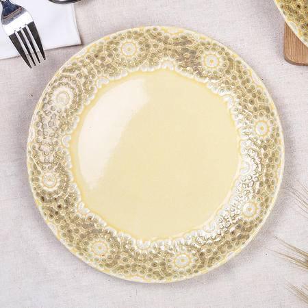 醴陵手绘陶瓷盘子个性西餐盘 创意田园特色鱼盘套装平盘挂盘
