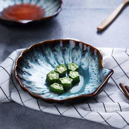醴陵5.5英寸异型 海洋系列餐具贝壳调味碟 沙拉 西式个性创意西餐厅