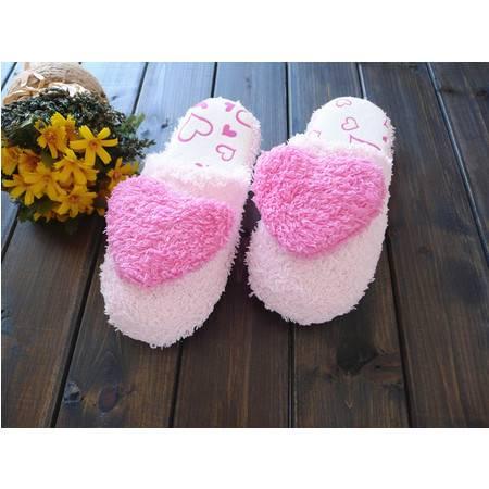 麦杜莎 2016新款可爱居家棉鞋女加绒厚底保暖鞋子冬季甜美室内防滑毛毛鞋包邮