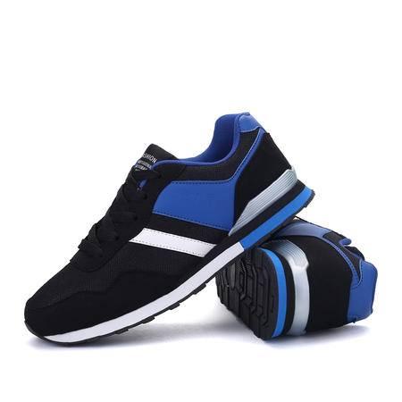 华度威男鞋夏季网面圆头跑步鞋韩版耐磨休闲鞋系带鞋子轻便透气运动鞋潮YM556
