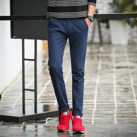 华度威 休闲裤男 商务秋款男装韩版修身直筒裤子纯色简约长裤SLS9505