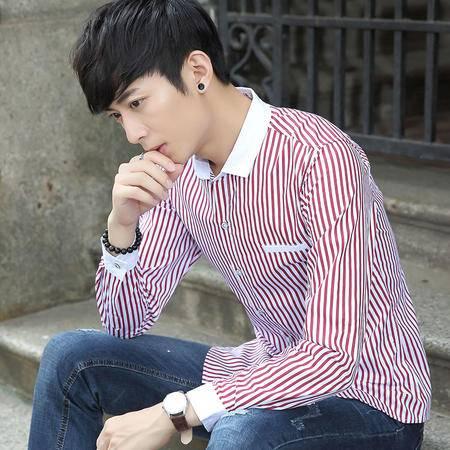 华度威 2016焕新装长袖衬衫男男士衬衫男装修身潮免烫衬衣 SLS18804