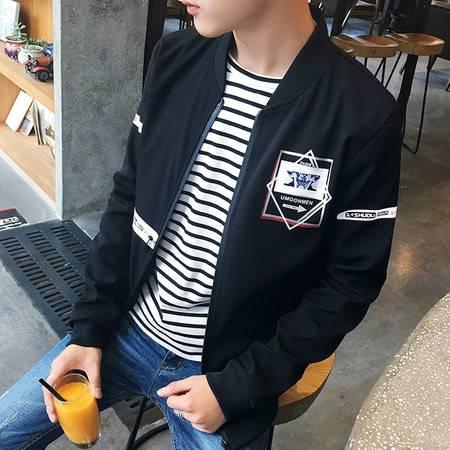 稻草人 夹克男2016秋季新款韩版修身立领男士休闲外套男装DJS467
