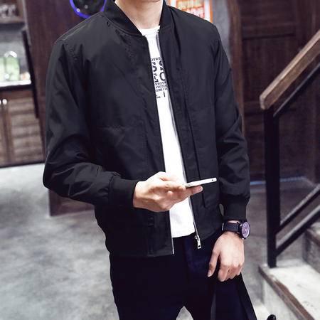 华度威 新款立领夹克男秋冬商务休闲简约修身外套上衣ZC3166
